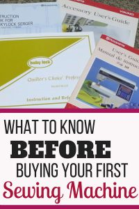 What to know BEFORE buying your first sewing machine