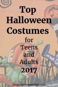 Top Halloween Costumes for Teens and adults for 2017