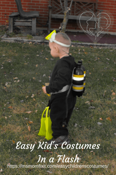 Easy Children's Costumes in a Flash- Scuba