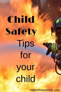 Child Safety- Tips for your child