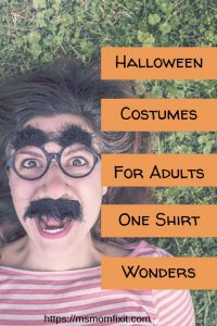 Halloween Costumes for Adults- One Shirt Wonders