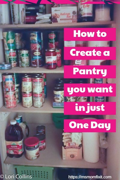 How to Create a Pantry you want in just One Day