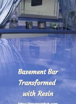 Basement Bar Transformed with Resin