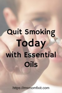 Quit Smoking Today with Essential Oils