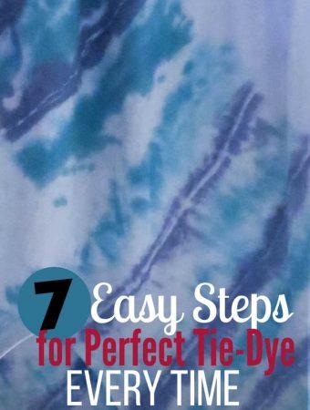Super Easy Tie-Dye Method