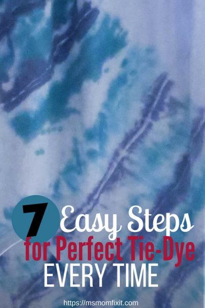 Super Easy Tie-Dye Method