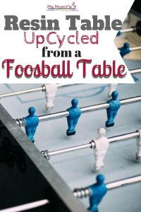 Upcycle Resin Table- Masterpiece from an old Foosball Table