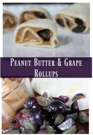 Peanut Butter & Grape Roll-ups