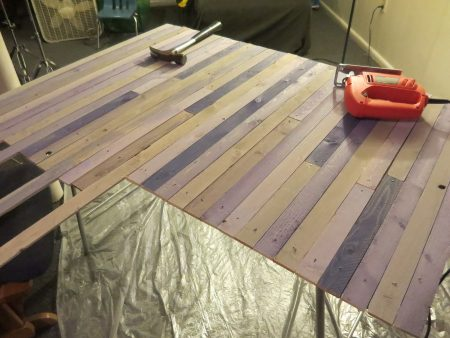 Piecing together table top