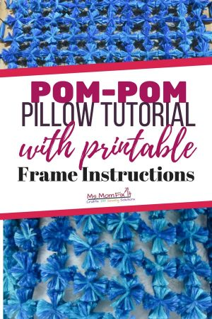 Pom-pom pillow tutorial