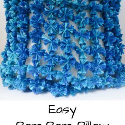 Easy Pom-pom Pillow – Delightful Decor