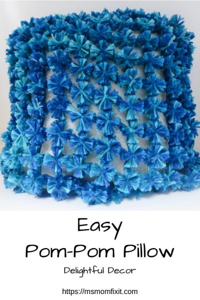 Easy Pom-pom pillow