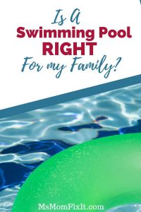 Is a swimming pool right for your family?