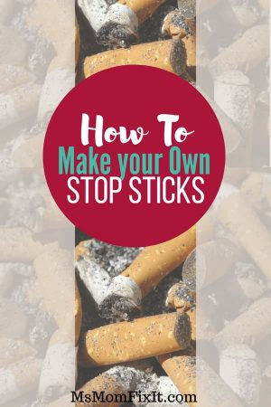 How to make your own stop sticks- essential oils to quit smoking