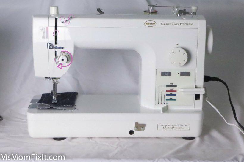 Sewing Machine Threading Back Thread