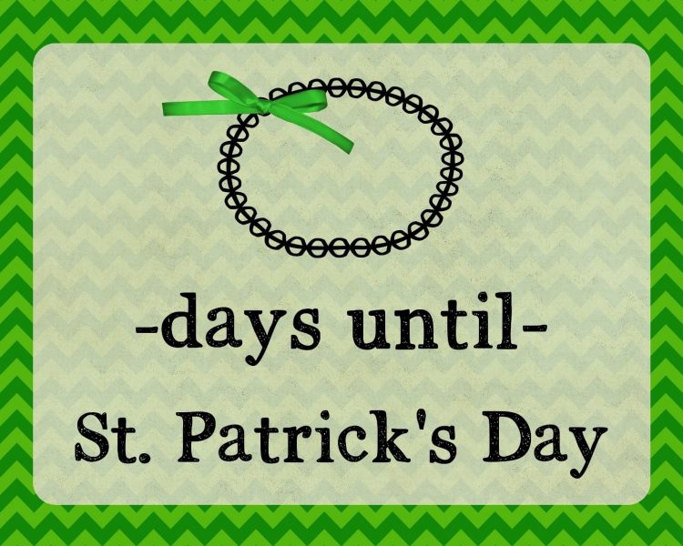 St. Patrick's countdown
