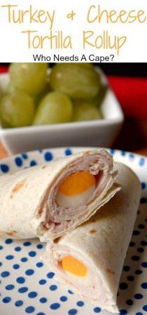 Turkey tortilla rollup