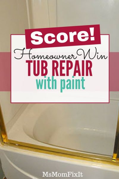 Tub Repair with Paint