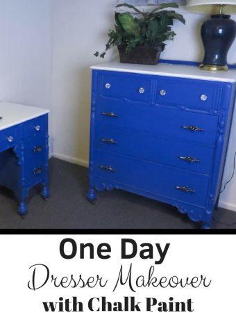 One Day Dresser Makeover