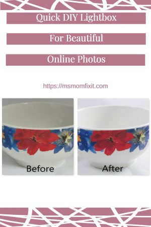 lightbox before and after