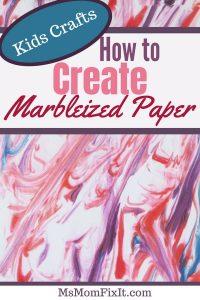 DIY Marbleized Paper