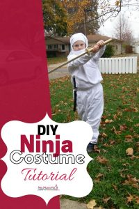 Super Easy Children's Ninja Costume