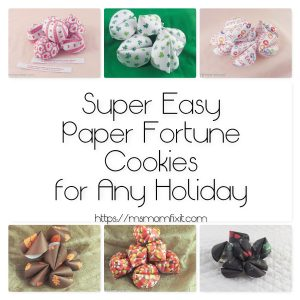 Super Easy Paper Fortune Cookies for all Holidays