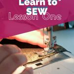 Quick & Easy Learn to Sew Lesson