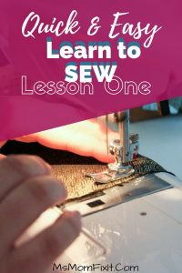 Quick and Easy Learn to Sew Lesson – Beginner Sewing
