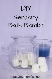 DIY Sensory Bath Bombs