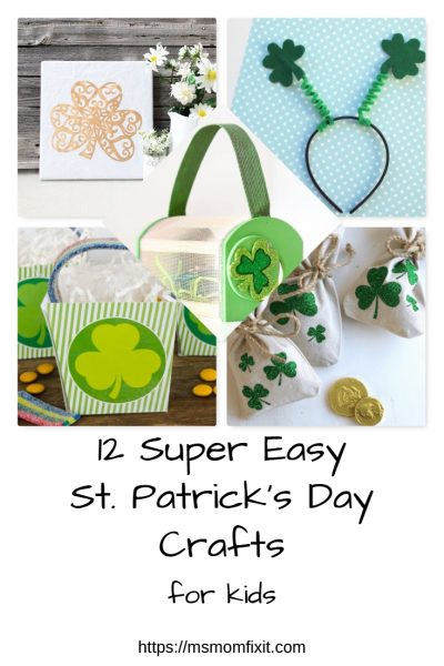 12 super easy St Patrick's Day Crafts