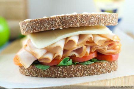 Kid friendly turkey sandwich